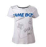 Nintendo - Gameboy Line Grey (T-SHIRT Donna TG.)