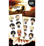 Attack On Titan - Chibi Characters (Temporary Tattoo)
