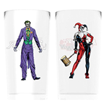 Batman Comic - Joker And Harley Quinn (Set 2 Bicchieri)