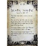 Poster Death Note - Rules - 61x91,5 Cm