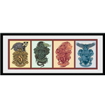 Harry Potter - House Animals (Stampa In Cornice 75x30 Cm)