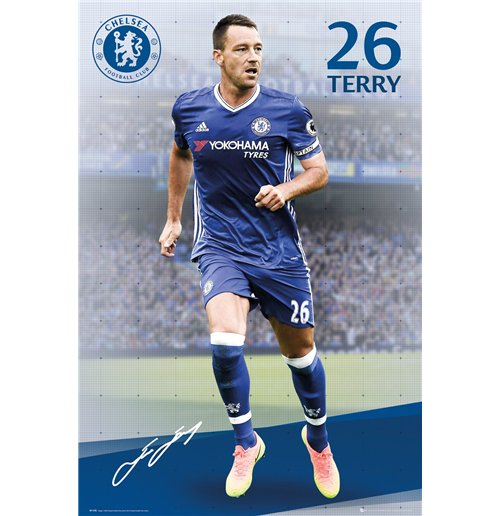Poster Chelsea - Terry 16/17 - 61x91,5 Cm