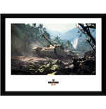 World Of Tanks - Forest Tanks (Stampa In Cornice 30x40 Cm)