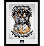 Suicide Squad - Group Orange Flame (Stampa In Cornice 30x40 Cm)