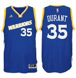 Canotta Golden State Warriors Kevin Durant adidas Swingman Alternate Jersey Blu