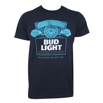 T-shirt Bud Light Blu
