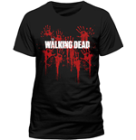 Walking Dead - Bloody Hands Logo (T-SHIRT Uomo )