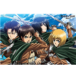 Attack On Titan - Four Swords (Poster Maxi 61x91,5 Cm)