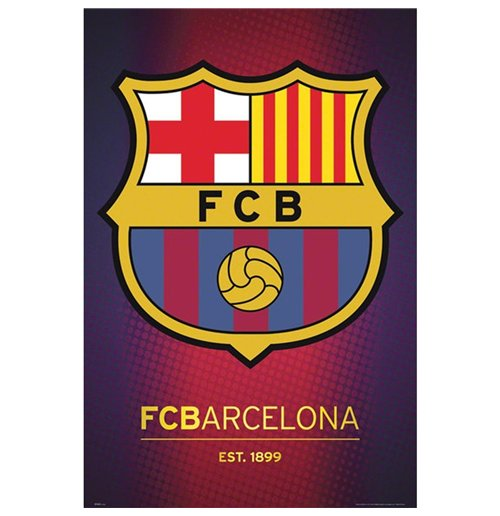 Poster Barcelona - Club Crest 61x91,5 Cm