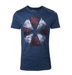 Resident Evil - Blood Dripping Umbrella Logo Blue (T-SHIRT Unisex )