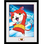 Yokai Watch - Jibanyan (Stampa In Cornice 30x40 Cm)