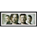 Supernatural - Group  (Stampa In Cornice 75x30 Cm)