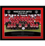 Manchester United - Team Photo 16/17 (Stampa In Cornice 30x40 Cm)