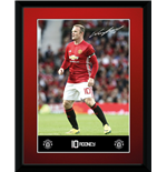 Manchester United - Rooney 16/17 (Stampa In Cornice 15x20 Cm)
