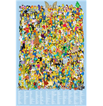 Poster Simpsons - Cast 2012 - 61x91,5 Cm