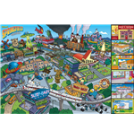 Simpsons (The) - Locations (Poster Maxi 61x91,5 Cm)