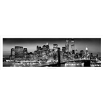 New York - Manhattan Black - Berenholtz (Poster Da Porta 53x158 Cm)