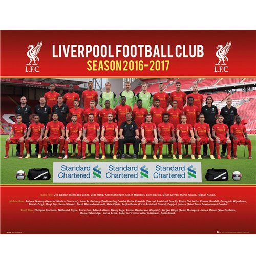 Liverpool - Team Photo 16/17 (Poster Mini 40x50 Cm)