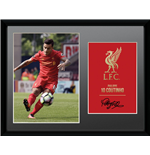 Liverpool - Coutinho 16/17 (Stampa In Cornice 30x40 Cm)