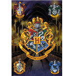 Harry Potter - Crests Poster (Poster Maxi 61x91,5 Cm)