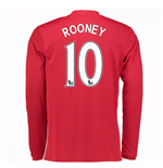 Maglia Manica Lunga Manchester United 2016-2017 Home (Rooney 10)
