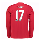 Maglia Manica Lunga Manchester United 2016-2017 Home (Blind 17)