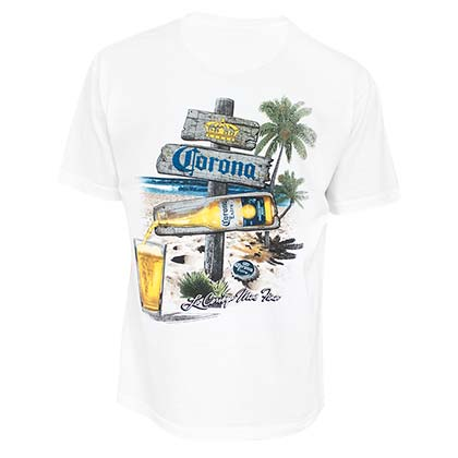 T-shirt Corona Beach Sign
