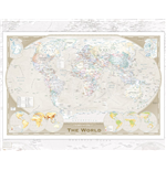 World Map - Tripel Projection (Poster Mini 40x50 Cm)