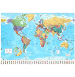Poster Grande World Map - 2015 - 100x140 Cm