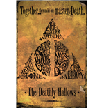 Harry Potter - Deathly Hallows Gold (Poster Maxi 61x91,5 Cm)