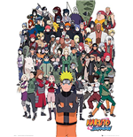 Naruto Shippuden - Group (Poster Mini 40x50 Cm)