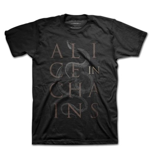 Alice In Chains - Snakes Black (T-SHIRT Unisex TG. 2)