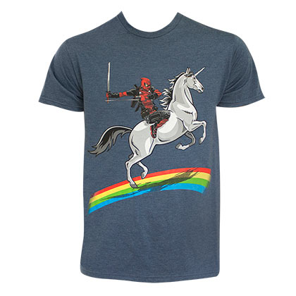 T-shirt Deadpool Rainbow Unicorn