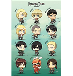 Attack On Titan - Chibi Characters (Poster Maxi 61x91,5 Cm)