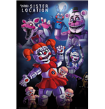 Five Night At Freddy's - Sister Location Group (Poster Maxi 61x91,5 Cm)