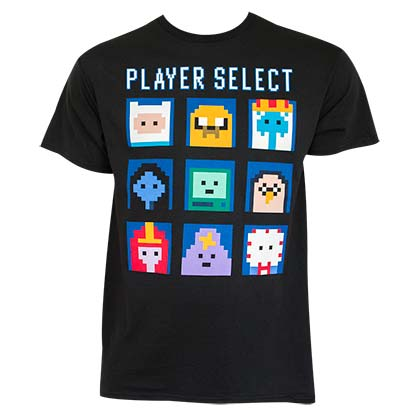 T-shirt Adventure Time Player Select