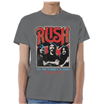 T-shirt I Rush World a Stage Tour 1977