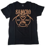 T-shirt Sons of Anarchy SAMCRO Chained Brown