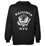 Ramones - Retro Eagle New York City (felpa Con Cappuccio Unisex TG. 2)