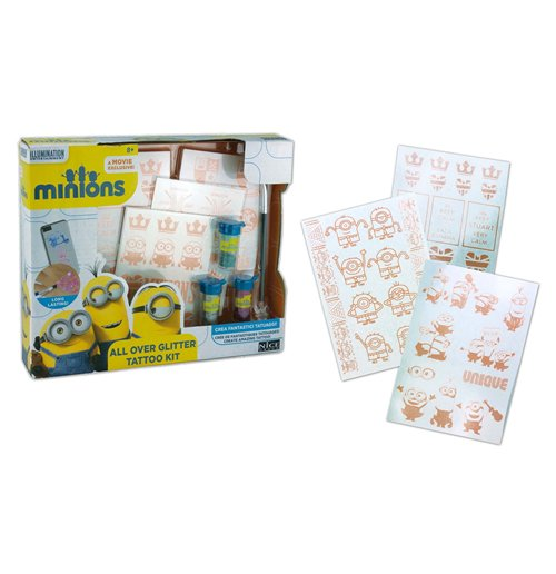 Minions - All Over Glitter Tattoo Kit