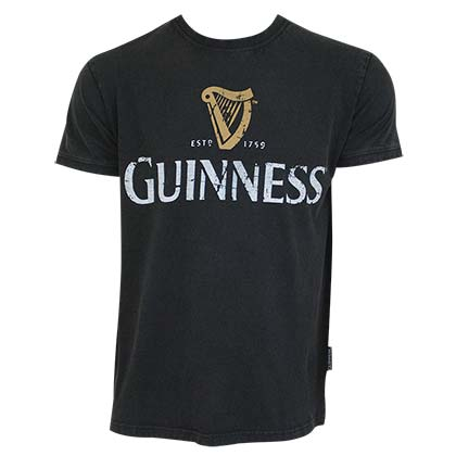 T-shirt Guinness Distressed Label