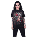 Spiral - Dead Tattoo Front Print Black (T-SHIRT Donna )