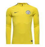 T-shirt manica lunga Manchester City 2016-2017 (Giallo)