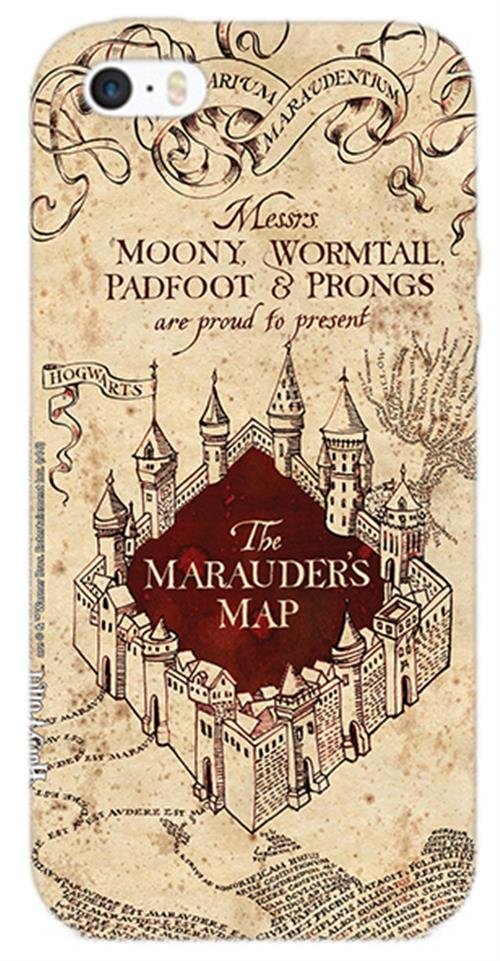 Cover Iphone 6-6S Harry Potter Marauders Map Opaca
