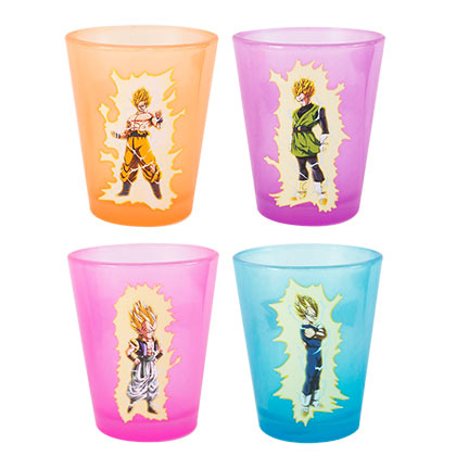 Set Bicchieri da Shot Dragon ball Glow In The Dark