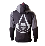ASSASSIN'S Creed - Black Flag Black (felpa Con Cappuccio )