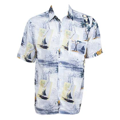 Camicia Hawaiana Corona Coast With The Most Aloha