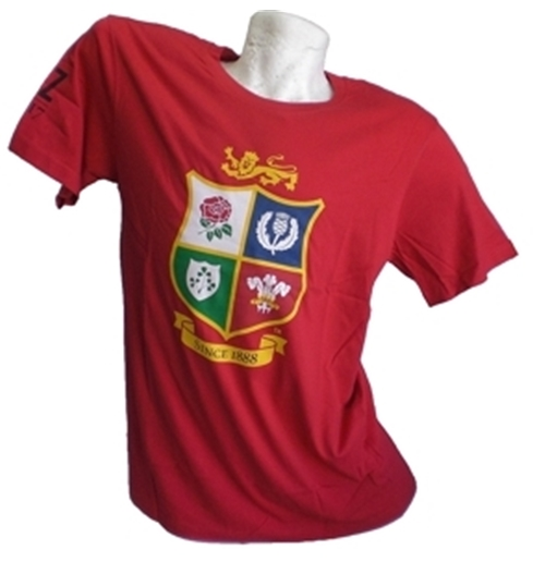 British Lions T-SHIRT Rossa