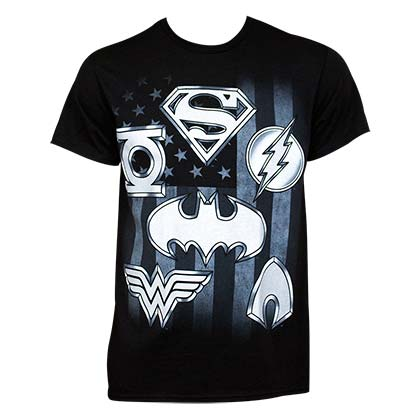T-shirt Justice League Superhero Logo