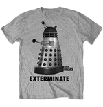 Doctor Who - Dr Who Exterminate Grey (T-SHIRT Unisex )